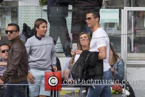 Cristiano Ronaldo - Portugal and Real Madrid striker Cristiano Ronaldo attends the Mutua Madrid Open Quarter Final between Rafael Nadal...
