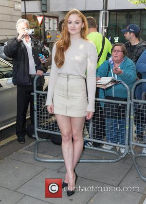 Sophie Turner - Sophie Turner pictured arriving at the Radio 2 studio at BBC Western House - London, United Kingdom...