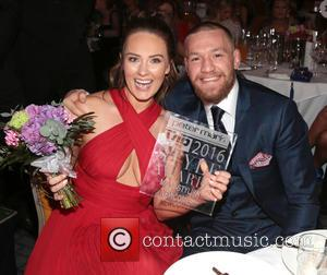 Conor McGregor , Dee Devlin - VIP Style Awards 2016 held at The Marker Hotel - Inside - Dublin, Ireland...