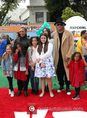 Mel B, Stephen Belafonte, Madison Brown Belafonte, Angel Iris Murphy Brown and Phoenix Chi Gulzar
