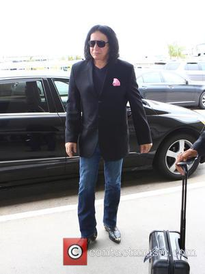 Gene Simmons - Gene Simmons arrives at Los Angeles International Airport (LAX) to catch a flight at Los Angeles International...