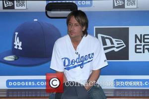 Keith Urban - Keith Urban attends the Los Angeles Dodgers v New York Mets MLB game at Dodger Stadium, annoucning...