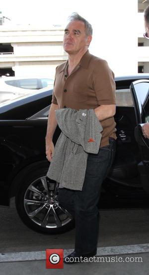 Steven Morrissey , Morrissey - Morrissey arrives at Los Angeles International Airport - Los Angeles, California, United States - Tuesday...