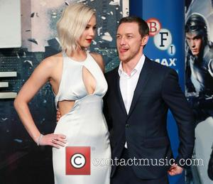 Jennifer Lawrence , James McAvoy - 'X-Men Apocalypse' film premiere, BFI Imax, London, Britain - London, United Kingdom - Tuesday...