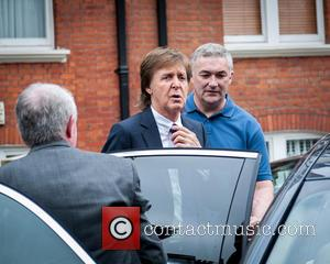Sir Paul McCartney - Sir Paul McCartney, singer song-writer arrives at the BBC's Maida Vale Studios to record an hour-long...
