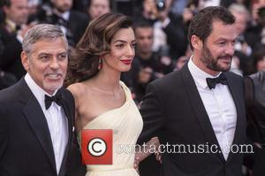 George Clooney, Amal Clooney , Domonic West - Actors and celebrities  attends the premiere for