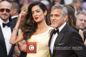Amal Clooney , George Clooney - Actors and celebrities  attends the premiere for