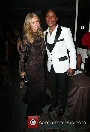 Paris Hilton and Jermaine Jackson