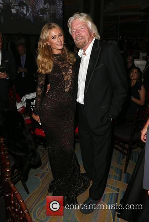Paris Hilton and Richard Branson