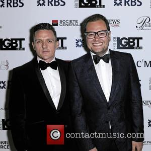 Alan Carr - British LGBT Awards 2016 - Arrivals at Grand Connaught Rooms - London, United Kingdom - Friday 13th...