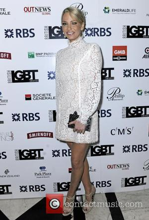 Sarah Harding - British LGBT Awards 2016 - Arrivals at Grand Connaught Rooms - London, United Kingdom - Friday 13th...