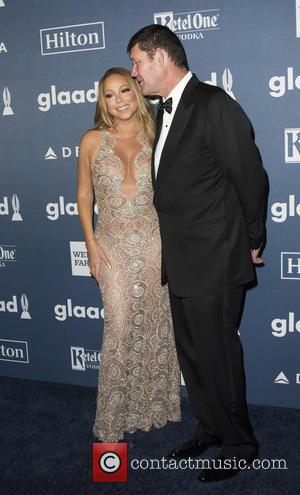Mariah Carey , James Packer - 27th Annual GLAAD Media Awards at The Waldorf=Astoria - Arrivals at Waldorf Astoria Hotel...