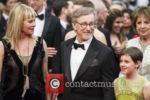 Kate Capshaw, Steven Spielberg and Ruby Barnhill