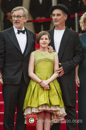 Steven Spielberg, Ruby Barnhill and Mark Rylance