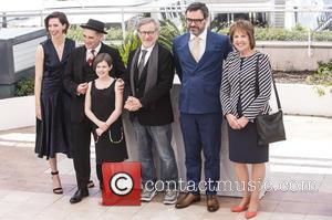 Rebecca Hall, Mark Rylance, Steven Spielberg, Ruby Barnhill and Penelope Wilton