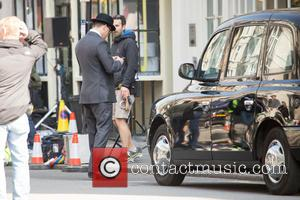 Channing Tatum - Channing Tatum films scenes for 'Kingsman: The Golden Circle' in London, England - London, United Kingdom -...
