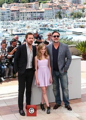 Ryan Gosling, Angourie Rice and Russell Crowe