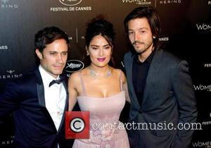 Gael Garcia Bernal, Salma Hayek , Diego Luna - 69th Cannes Film Festival - Women in Motion Gala Awards -...