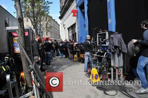 Atmosphere - Trainspotting 2 filming in Edinburgh - Edinburgh, Scotland, United Kingdom - Sunday 15th May 2016