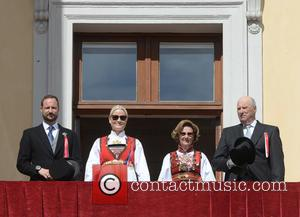 King Harald V, Queen Sonja, Crown Princess Mette- Marit and Crown Prince Haakon