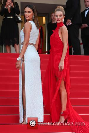 Rosie Huntington-whiteley and Alessandra Ambrosio