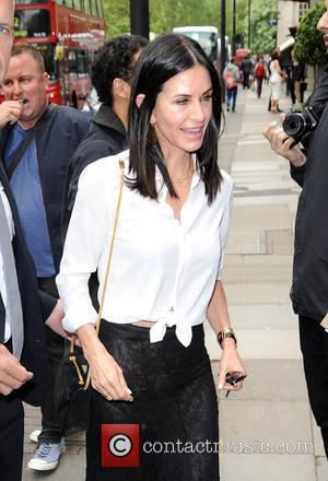 Courteney Cox - Courteney Cox arrives at The Ivor Novello Awards at The Grosvenor Hotel in London at Ivor Novello...