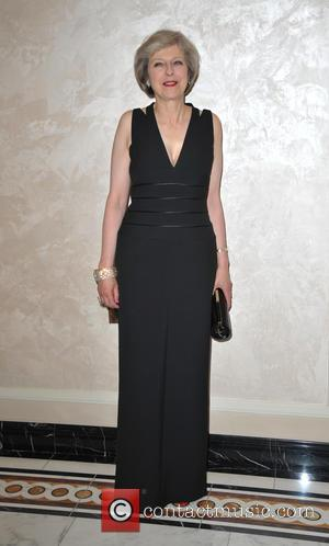 Theresa May - Care After Combat Ball at the Dorchester Hotel at Dorchester Hotel London, Dorchester Hotel - London, United...