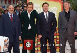 Joel Silver, Ryan Gosling, Russell Crowe and Shane Black