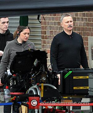Robert Carlyle - Robert Carlyle, in character as Begbie, on the set of 'Trainspotting 2' as filming takes place in...