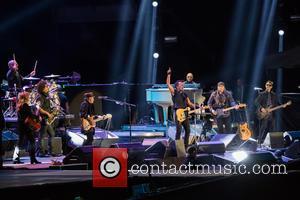 Bruce Springsteen, Steven Van Zandt, Max Weinberg, Jake Clemons, Nils Lofgren and Patti Scialfa