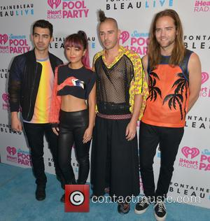 Joe Jonas, Jinjoo Lee, Cole Whittle, Jack Lawless , DNCE - iHeartRadio Summer Pool Party concert held at BleauLive at...