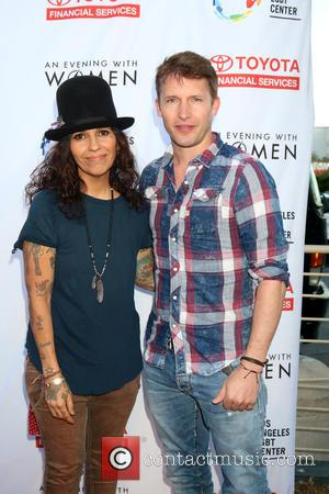 Linda Perry and James Blunt