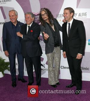 Larry Ruvo, Tony Bennett, Steven Tyler and Jeff Koons
