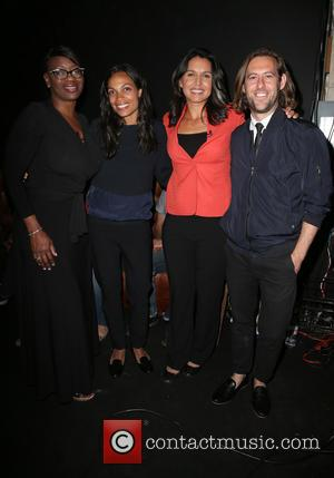 Nina Turner, Rosario Dawson, Tulsi Gabbard and Sean Carasso