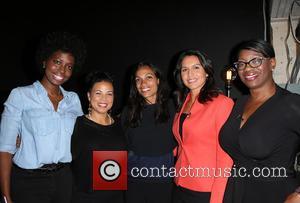 Erica Williams Simon, Melina Abdullah, Rosario Dawson, Tulsi Gabbard and Nina Turner