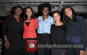 Nina Turner, Tulsi Gabbard, Erica Williams Simon, Melina Abdullah and Rosario Dawson