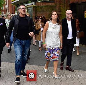 Domenico Dolce, Stefano Gabbana , Alexandra Shulman - VIPs at the Vogue 100 Festival London Sunday at Kensington Gardens -...