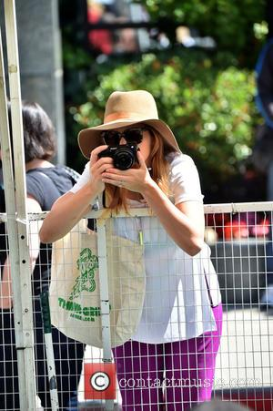 Emily Blunt - Pregnant Emily Blunt and her husband John Krasinsky take their daughter to a farmer's market. Emily snapped...