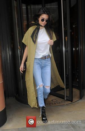 Kendall Jenner - Kim Kardashian and Kendall Jenner out for lunch at C restaurant in Mayfair. London. UK - London,...