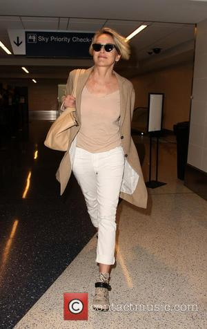 Sharon Stone - Sharon Stone at Los Angeles International Airport (LAX) - Los Angeles, California, United States - Monday 23rd...