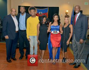 Justice, Haiti Minister Of Tourism Guy Didier Hyppolite, Haiti Counsul Guy Francois Jr., Marnino Toussaint, Hillary Nomes, Saskya Sky and City Of Miramar Mayor Wayne Messam