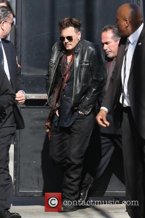 Johnny Depp - Johnny Depp seen arriving at the ABC studios for 'Jimmy Kimmel Live!' at Hollywood - Los Angeles,...