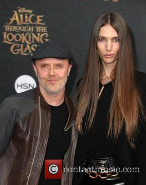 Lars Ulrich and Jessica Miller
