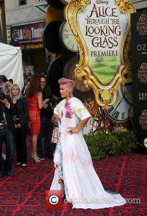 Alecia Moore aka Pink - Premiere of Disney's 'Alice Through The Looking Glass' - Arrivals at El Capitan Theatre, Disney...