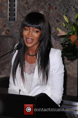 Naomi Campbell - Naomi Campbell Lights Empire State Building in Celebration of Red Nose Day - New York, New York,...