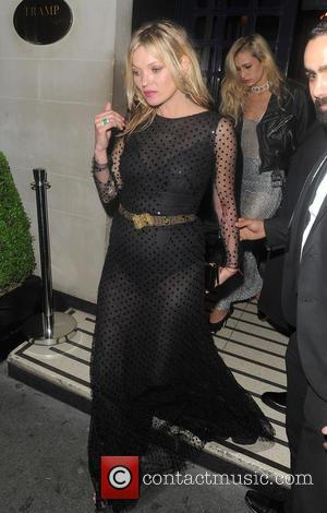 Kate Moss - Celebrities attend the Vogue 100th Anniversary Gala After Party held at Tramp in Mayfair. Kate Moss leaves...