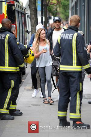 Charlotte Crosby - The cast of Geordie Shore head out this morning after celebrating their 5th Anniversary and fool around...