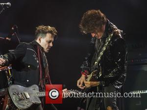 Johnny Depp, Joe Perry and Hollywood Vampires