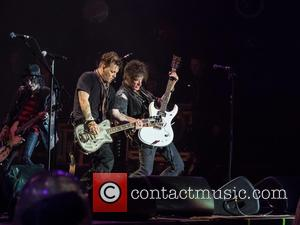 Johnny Depp, Joe Perry, Tommy Henriksen and Hollywood Vampires
