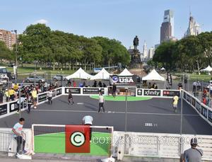 Atmosphere - Street Soccer USA Kicks Off Philadelphia Cup with appearances by Heather Mitts and Jimmy Conrad - Philadelphia, Pennsylvania,...
